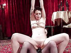 Chick gets dominated and she likes it