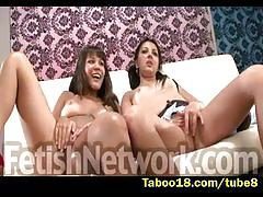 teen, taboo18.com, threesome, brunette, raven, natural tits, masturbating, hitachi, pov, sucking cock, handjob