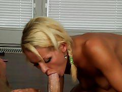 She finishes it off 4 - cum in mouth - oral creampie compilation