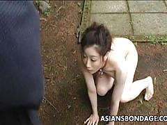 Asian slut loves to be punished