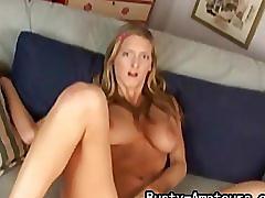 Busty amateur ryana masturbates her pussy