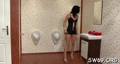 Hot milf blows at gloryhole segment