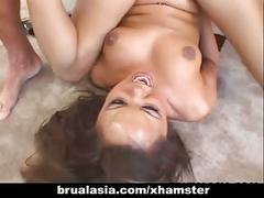 Asian skank annie cruz gets her ass drilled deep