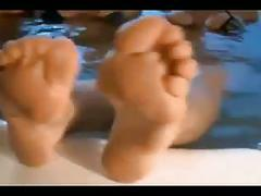 Bathing british commonwealth queens: big nordic feet joi