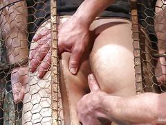Master fucks his caged slave