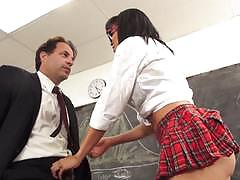 luna star, eric john, blowjob, riding, doggystyle, cumshot, glasses, teacher, student, desk, socks, reverse cowgirl, cowgirl, classroom, pussy licking, uniform, sucking