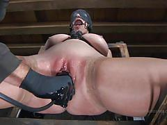 Bella dildo fucked in her lubed pussy
