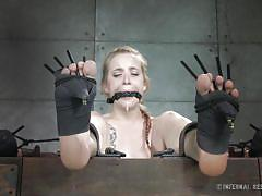 Trapped in the bondage device