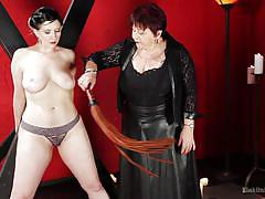 bdsm, mature, redhead, mistress, whipping, brunette, natural tits, flogging, instructional, lash, kink university, kink, cleo dubois, nerine mechanique