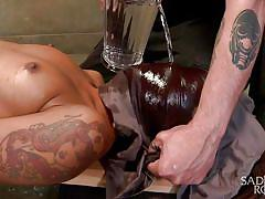 milf, tattoo, bdsm, ebony, interracial, thin, vibrator, tied up, water torture, sadistic rope, kink, skin diamond