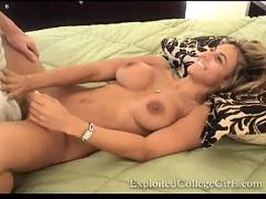 College girl gives her first blowjob on camera