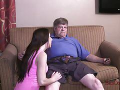 Ginna love fullfills her breeding fantasy with a much older guy.