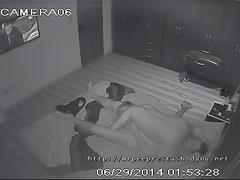 Cctv captures couple burning off calories the old fashion way before bed