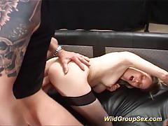 Naughty amateur gets her ass hammered