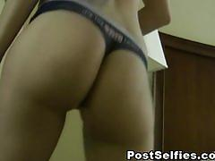 Sexy ass babe in a strip dance