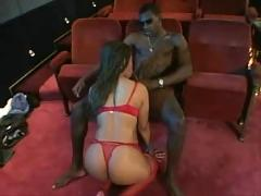 Big-booty black chick cinema fuck