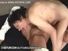 Laura and channel - old young lesbian love in the toilette
