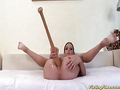 anal, strip, hardcore, fistingfiles.com, lingerie, brunette, shaved pussy, homemade, masturbating, extreme, baseball bat, fisting, flexible