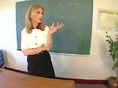 Mature nina hartley fucks a student