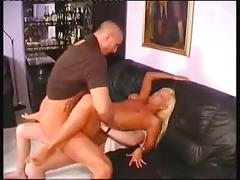 Papa - a 3 some she gets a mouth full of cum