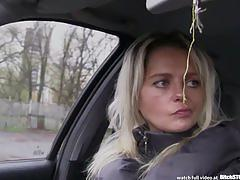 amateur, blowjob, car pov, bitchstop, outdoor sex, czech milf, blonde milf, czech streets, cumshot, car sex