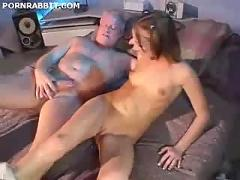 Pigtailed girl gets fucked in the ass