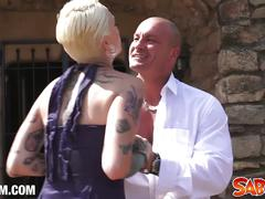 Silvia rubi tattoed blonde nailed deep