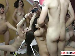 amateur, strip, lostbetsgames.com, party, rock paper scissors, shaved pussy, bush, fishnets, lap dance, natural tits
