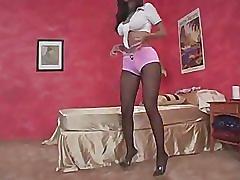 Pink spandex shorts & pantyhose