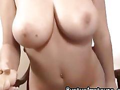 amateur, busty amateurs.com, brunette, big tits, masturbation, solo, dildo, trimmed pussy, masturbating, orgasm