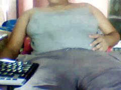 Exposing nude body in webcam.....