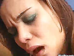 hardcore, latina, bigbreastssex.com, handjob, sucking cock, huge tits, landing strip, heels, titty fuck, cowgirl, brunette