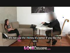 Love creampie cute young amateur does casting to start porn career