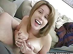 Busty chick lisa on her first pov