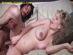 Black cum on pregnant blonde