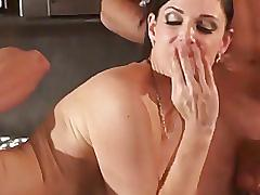 mature, mom, milf, old young, threesome, boobs, cougar
