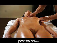 Passion-hd sensual massage makes girl horny for cock