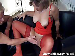 Gigantic dildo fuck and squirting fisting orgasms
