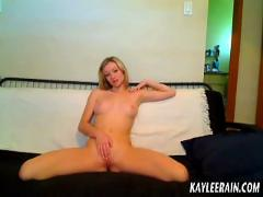 Teen kaylee rain models topless in her new pink panties