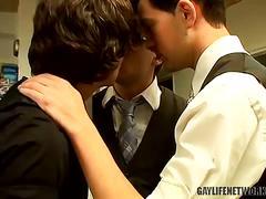 Zack, ayden and jayden office threesome