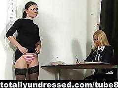 Kinky job interview for shy secretary
