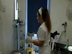 Nurse oksana dharcourt with a doctor
