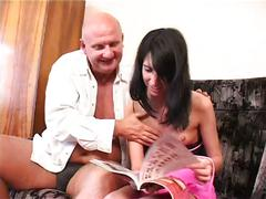 Daughter fucks daddy for money