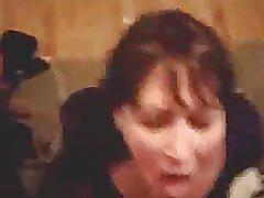 Wife blowjob & facial drenched