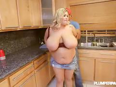 Busty fat wife kacey parker fucks black plumber