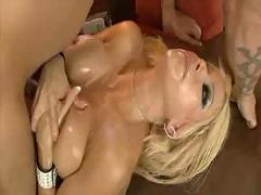 Gina loves to oil those big tits!