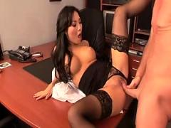 Asian secretary fucked by his boss on the desk