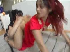 Hardcore asian lesbian girls ass eaters