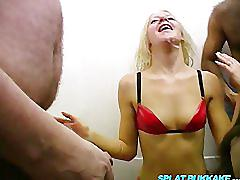 Amateur girls in shower room cumshots and facials