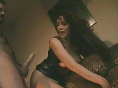 anal, blowjob, tube8.com, leather, big tits, brunette, rimming, fingering, trimmed pussy, reverse cowgirl, doggy style